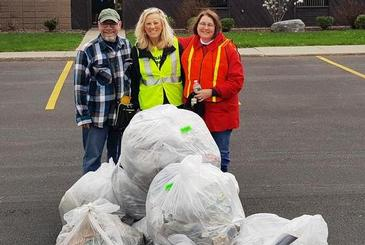 CNYRIC team members participate in Earth Day Litter Cleanup