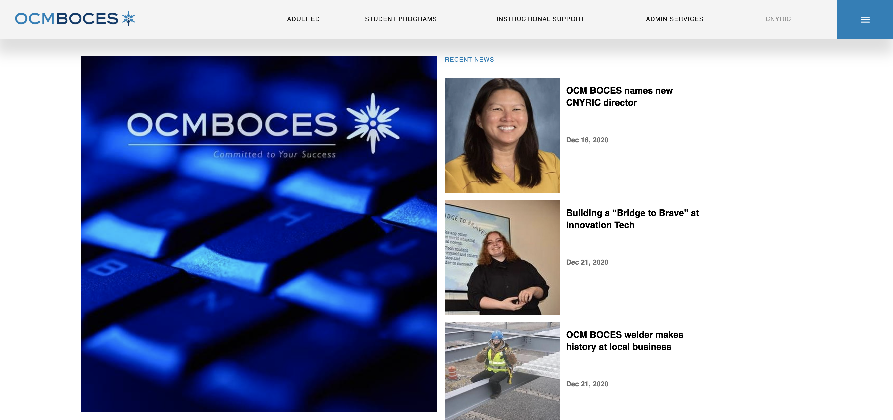 click here to see the new ocm boces website